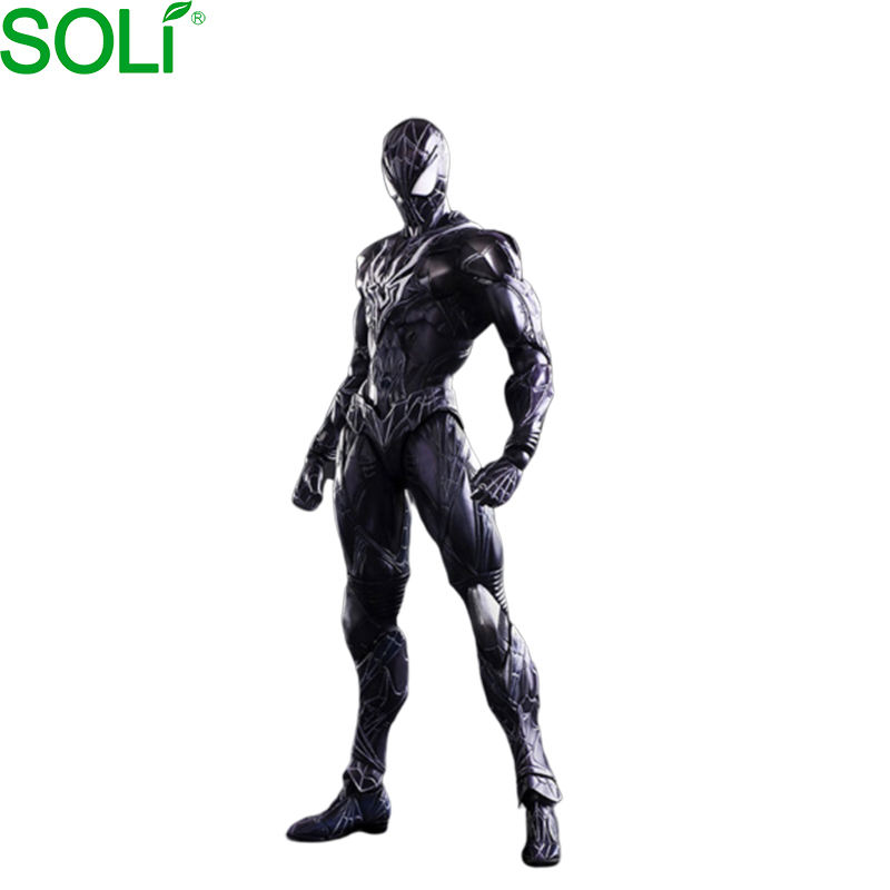 OEM custom pvc resin plastin toy Restrict Black spider man action figure marvel marvel figure spider man figure