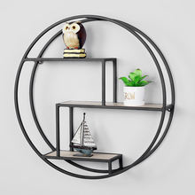 Decorative Black & Copper Wire Metal Wall Shelf