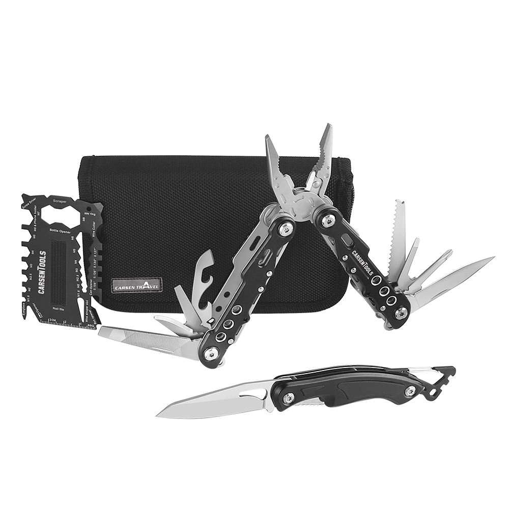 Outdoor Carabiner pocket knife,Multipurpose credit card tools,camping household hand tools sets