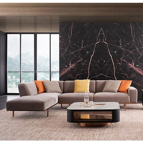 Sala de muebles para el hogar de corte transversal en forma de L sofá diseño