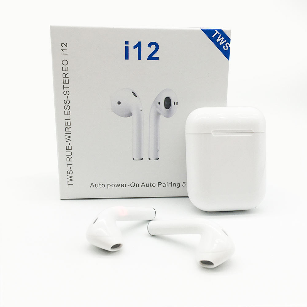 Amazon TOP Inpods 12 Tws Bluetooth Stereo Tai Nghe Headphone I12 1:1 Hoạt Động Tiếng Ồn Hủy Bỏ Earbuds Ios Android Điện Thoại