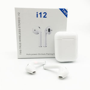 Amazon TOP Inpods 12 Tws Bluetooth Stereo Earphone Headphone I12 1:1 Aktif Kebisingan Membatalkan Earbud Ios Android Ponsel