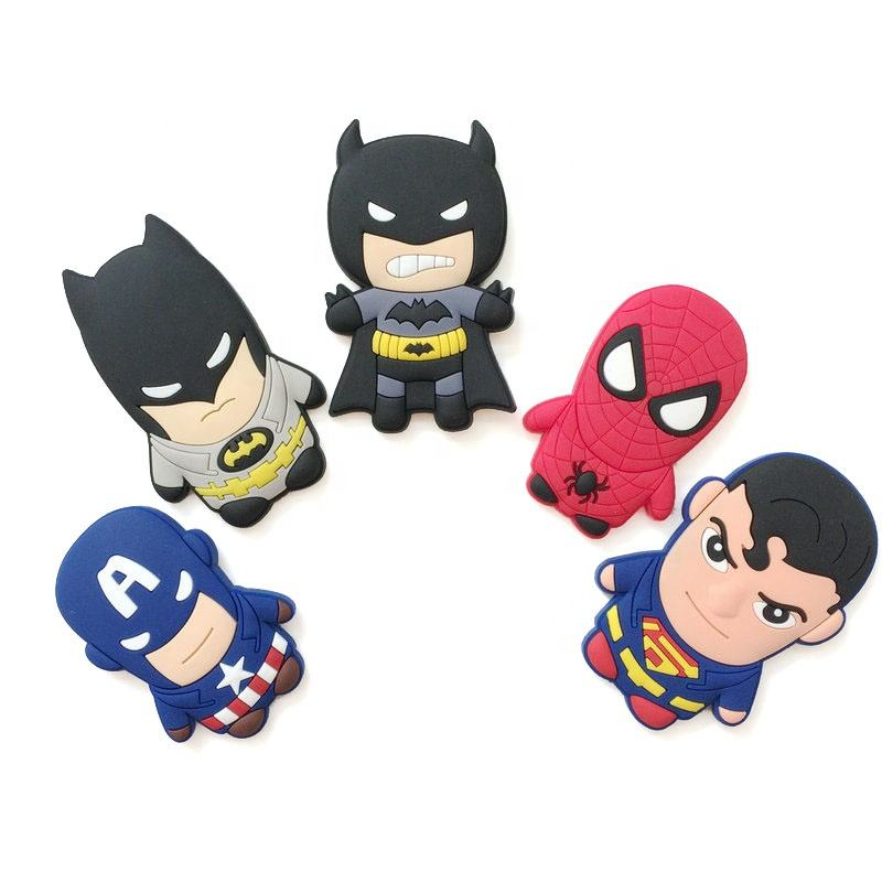 Cheap Design Custom 3D Anime Cartoon Logo Soft PVC Rubber Fridge Magnets for Home Decor and Toys