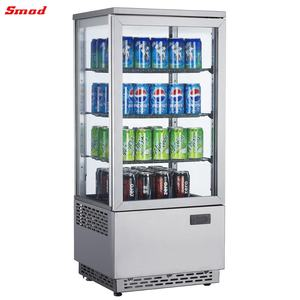 78L Bakery Cake Flat Glass Display Refrigerator Showcase Chiller