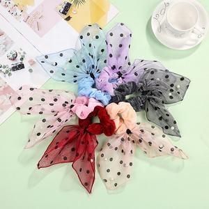 Ladies Decorative Hair Ring Pearl Wave Point Scrunchy Women's Decorative Hairband Accessories