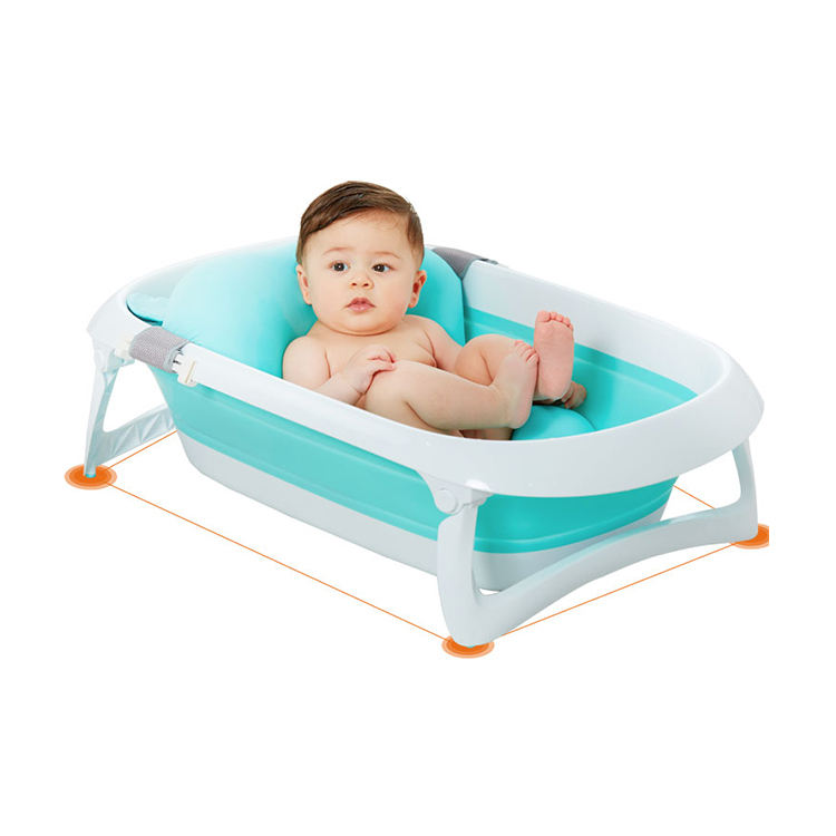 Silicone collapsible folding tub children bath supplies baby bath tub with stand