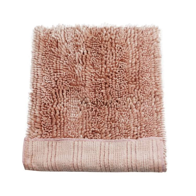 artificial silk mixed chenille yarn rug