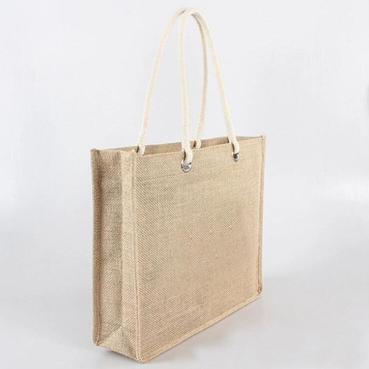 Jute Gunny Bags Bangladesh Sack Rice Bag For 50 Kg Nigeria Laminated Reusable Shopping Large With Zipper Low Price Handmade