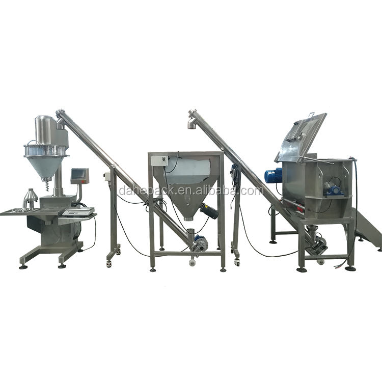 Dry Mix Color Powder Polymer Coffee Mixing And Packing Machine