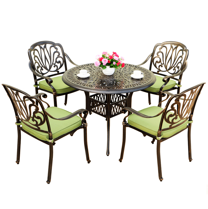 5Pcs Outdoor Patio Furniture hot sale cast aluminum garden sets hotel top furniture