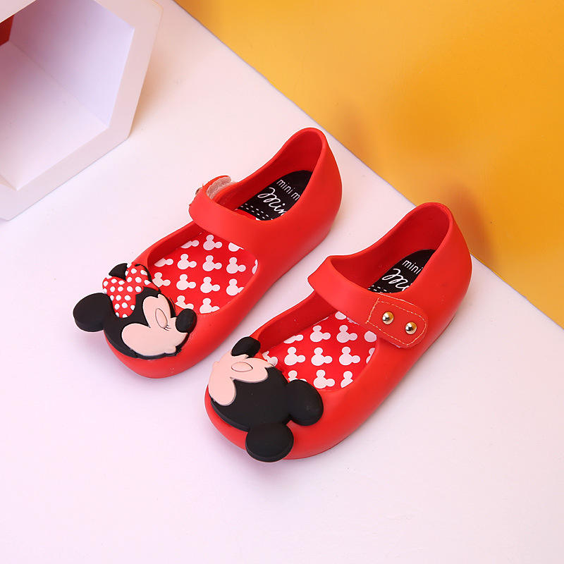 Wholesale Girls New Shoes Kiss Mini Mouse Fashion Children Jelly shoes