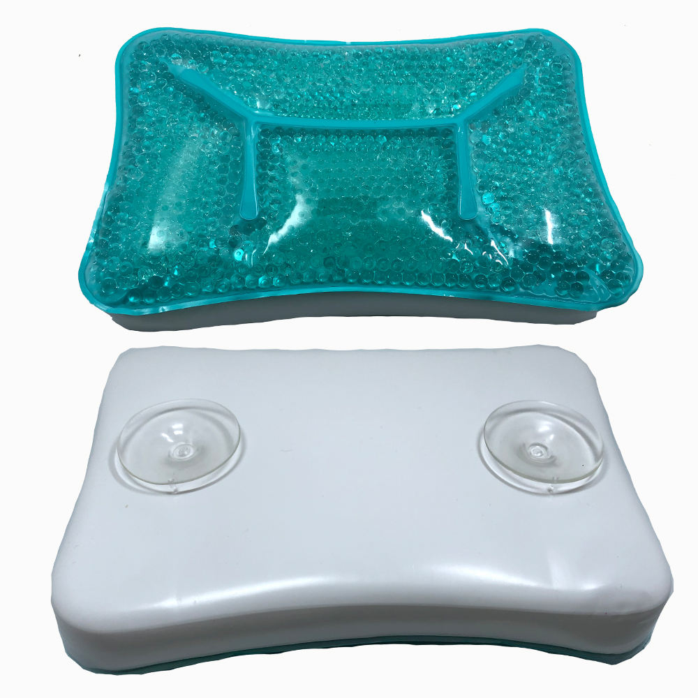 Reusable Spa Cooling Gel Bath PillowとSuction Cups、Supports NeckとShoulders