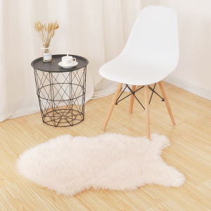Modern faux fur fake sheepskin shaggy area rugs light pink faux fur carpet