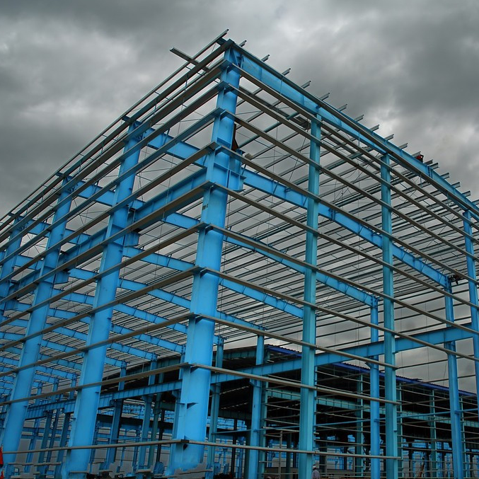 Steel structure workshop. Steel structure warehouse.