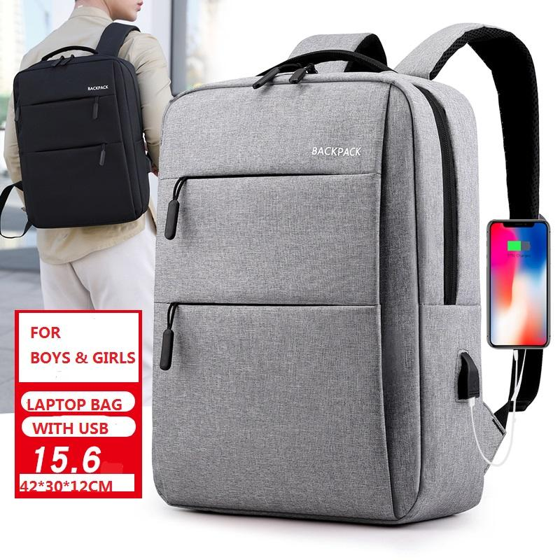 Large Capacity multifunction nylon USB charger backpack Anti theft Smart Laptop Backpack bag with USB Charging port