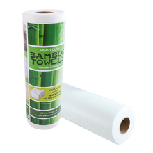 100% Bamboo fiber eco organic reusable washable  bamboo  paper towel roll , kitchen bamboo dish cloth towel