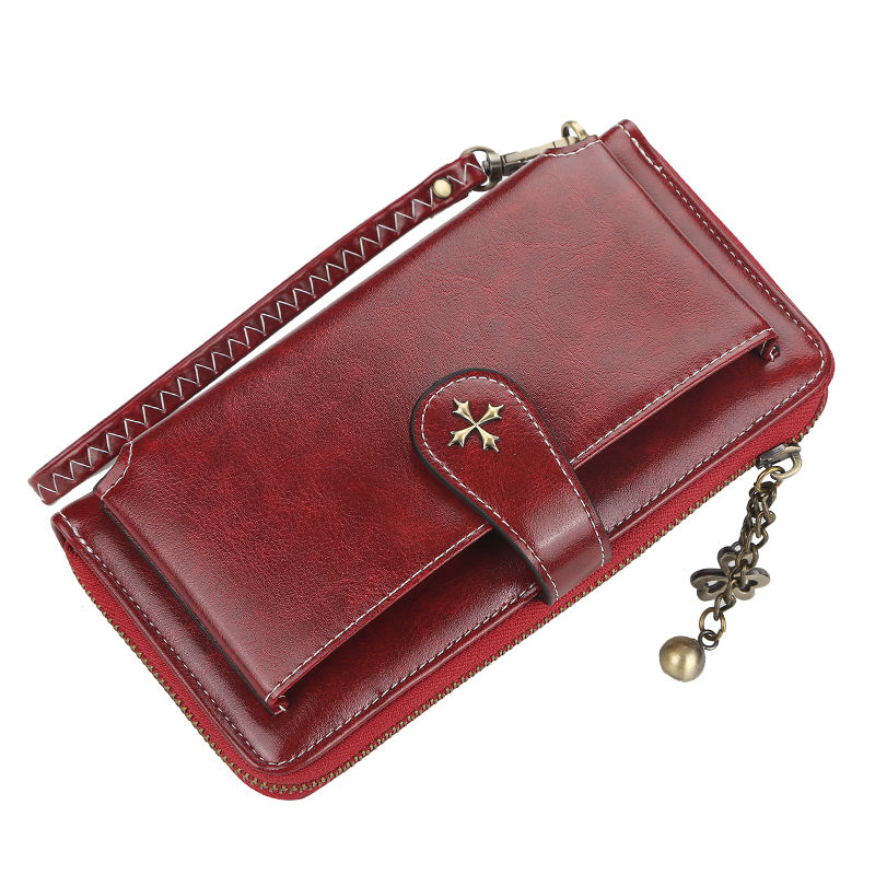 Baellerry 2019 New Style High Quality Multi-function Long Section Wallet For Women With Phone Bag,Lady Handbag With Handle Strap