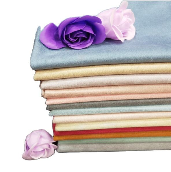 Wholesale China manufacture polyester suede fabric for garment