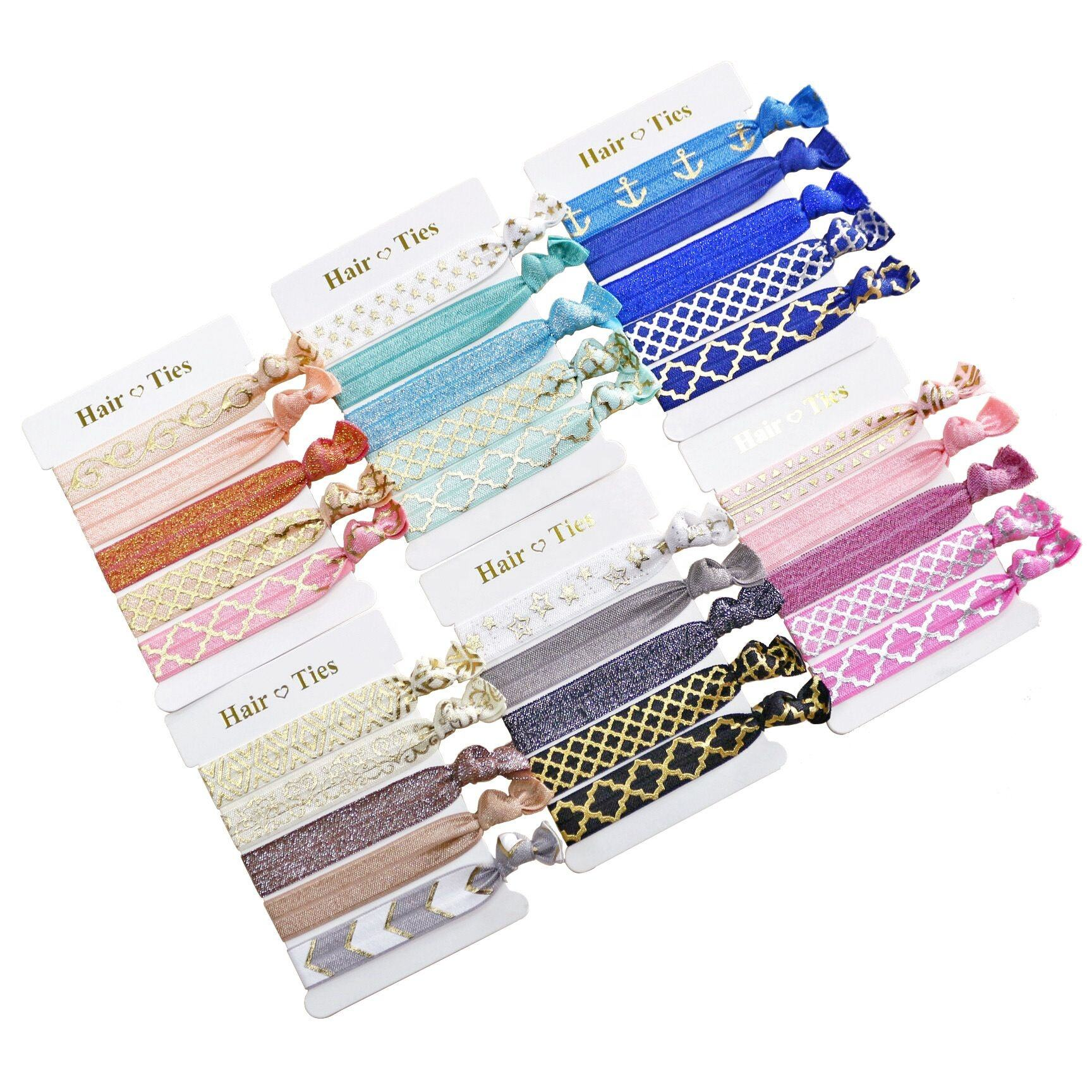 Customize the hair accessories about elastic hair bands ponytail hair tie for ladies