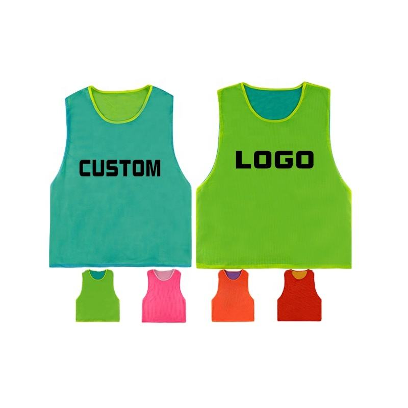 Factory direct sale sport bibs training vest reversible mesh soccer bibs
