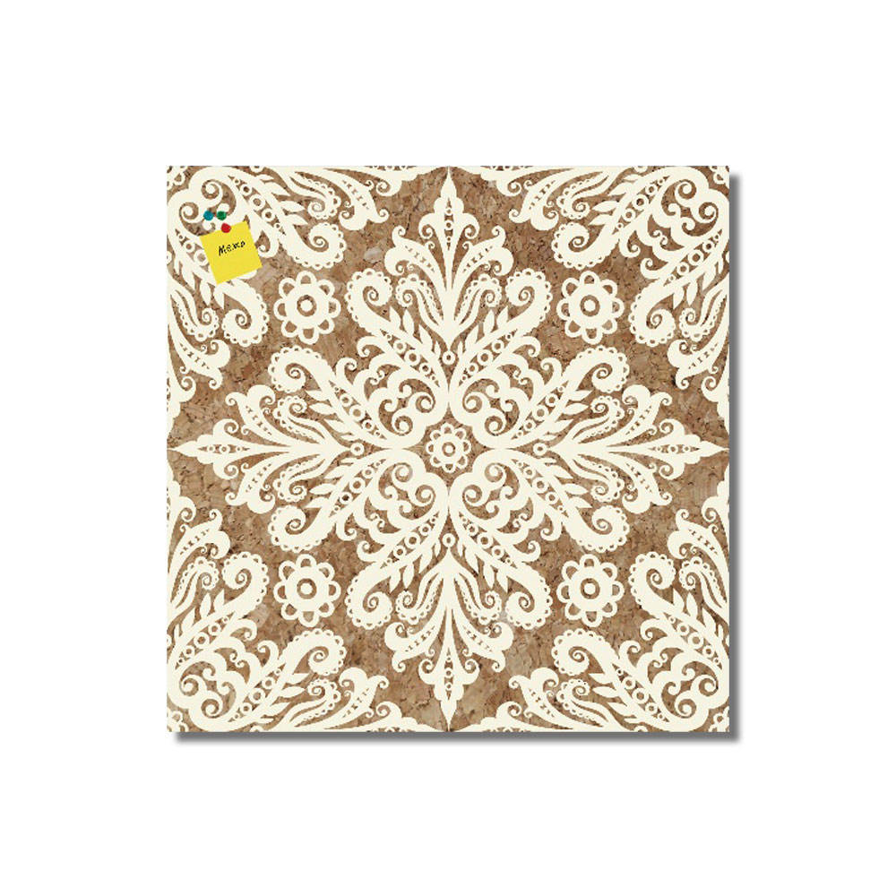 Beautiful Cork Board Flora Shapes Deco Wall Sticker Wood Art