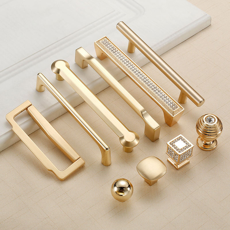 Handle Metal Modern Gold Cupboard Zinc Interior Pull Knobs And Drawer Window Wardrobe Kitchen Cabinet Door Furniture Handles