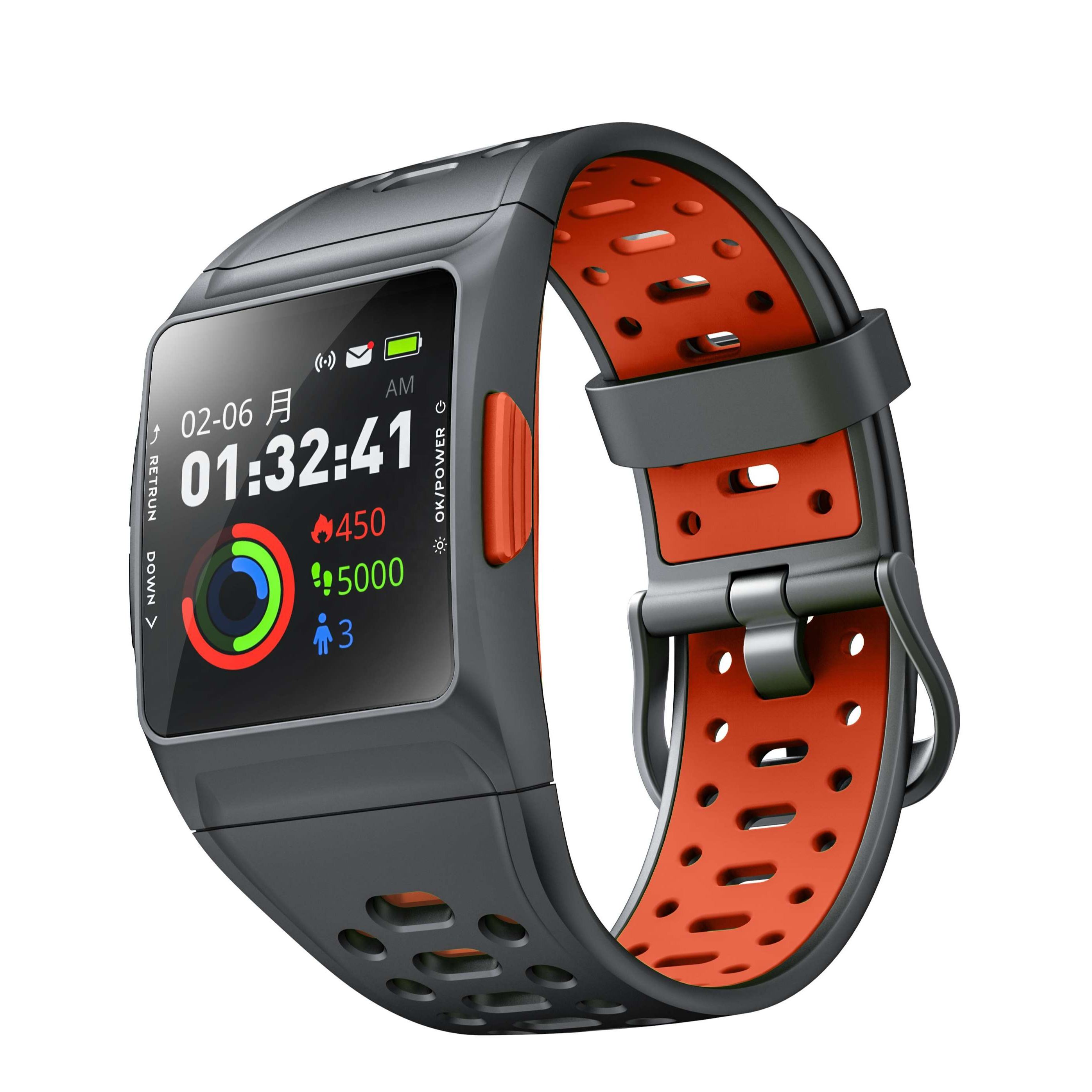 2019 Smart Watch IWOWNfit P1L GPS Smartwatch Heart Rate Monitor Fitness Tracker Pedometer Calories Counter IP68 Sports Watch