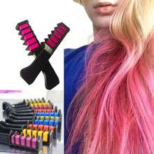 EASY! Disposable Mini Hair Dye Comb Grey Purple Red Hair Color Chalk Hair Dyeing Tool