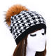 Fashion Lady Fur Pompom Woolen Hat Custom Wool Cashmere Beanie Hats Women