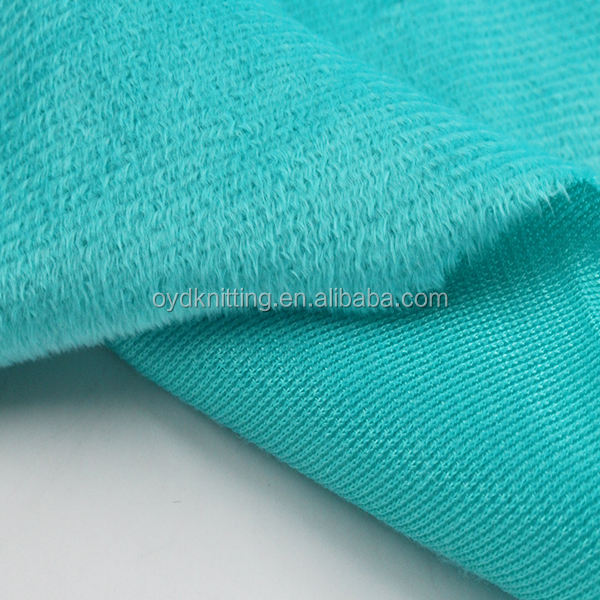 Polyester Knitted 160gsm 1.5mm Shiny One Side Brush Short Pile Velboa for Pillow/Warm Shoes Material