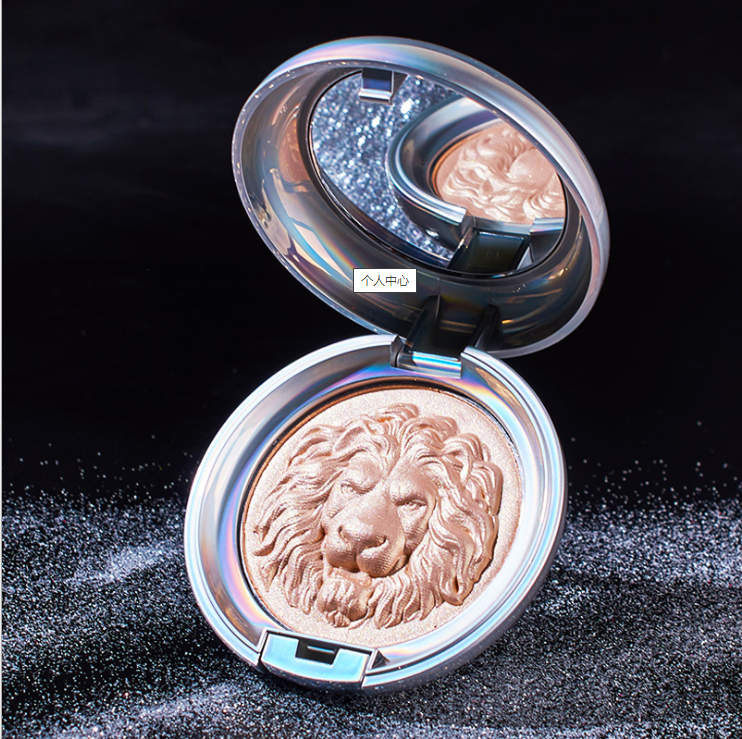 Lion Design High Capacity 11.5g Face Makeup Bronzer Cosmetic Shimmering Compact Highlighter