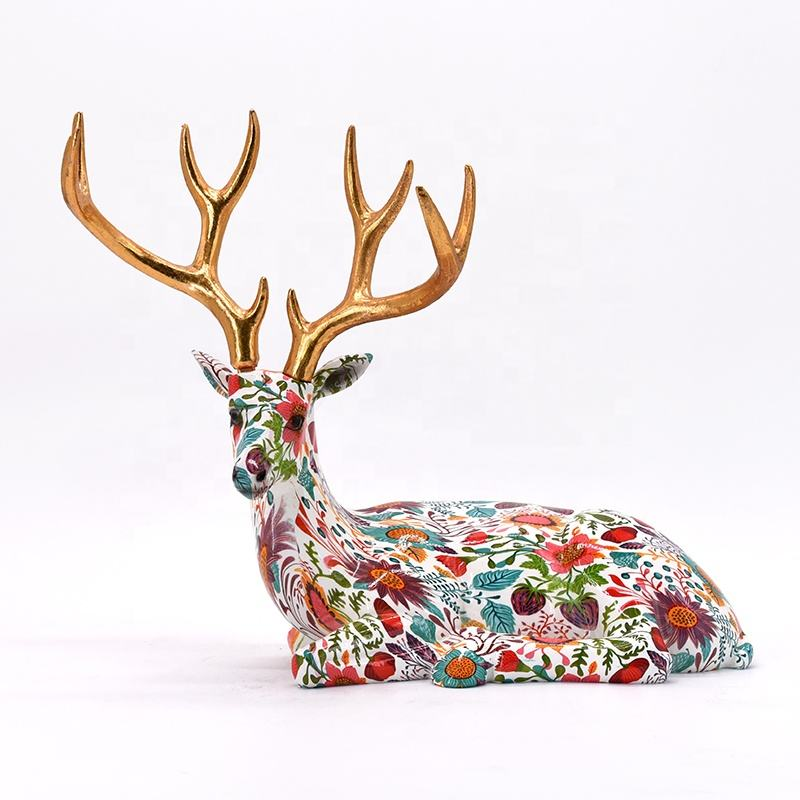 Nice decal resin reindeer decor for home modern decoration
