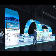 9x4m Advertising Ideas Booth Stand Exhibition Equip Modular Trade Show  booth exhibit Circular Display
