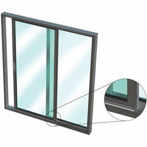 Low price hurricane proof aluminium frame tempered glass sliding window