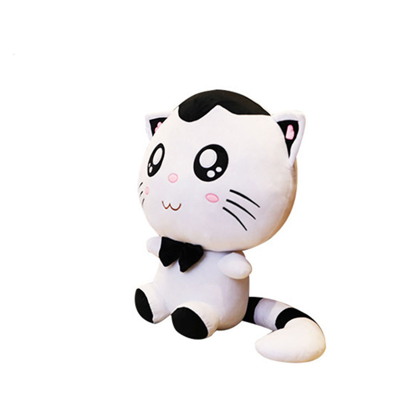 Wholesale 130cm Cat Plush Toys Smiling Cartoon Big Face Cat Doll Toy For Children