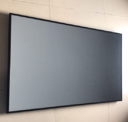 4K Laser Projector Screen 120 inch PET Crystal Fixed Frame Projection screen for Home Theater