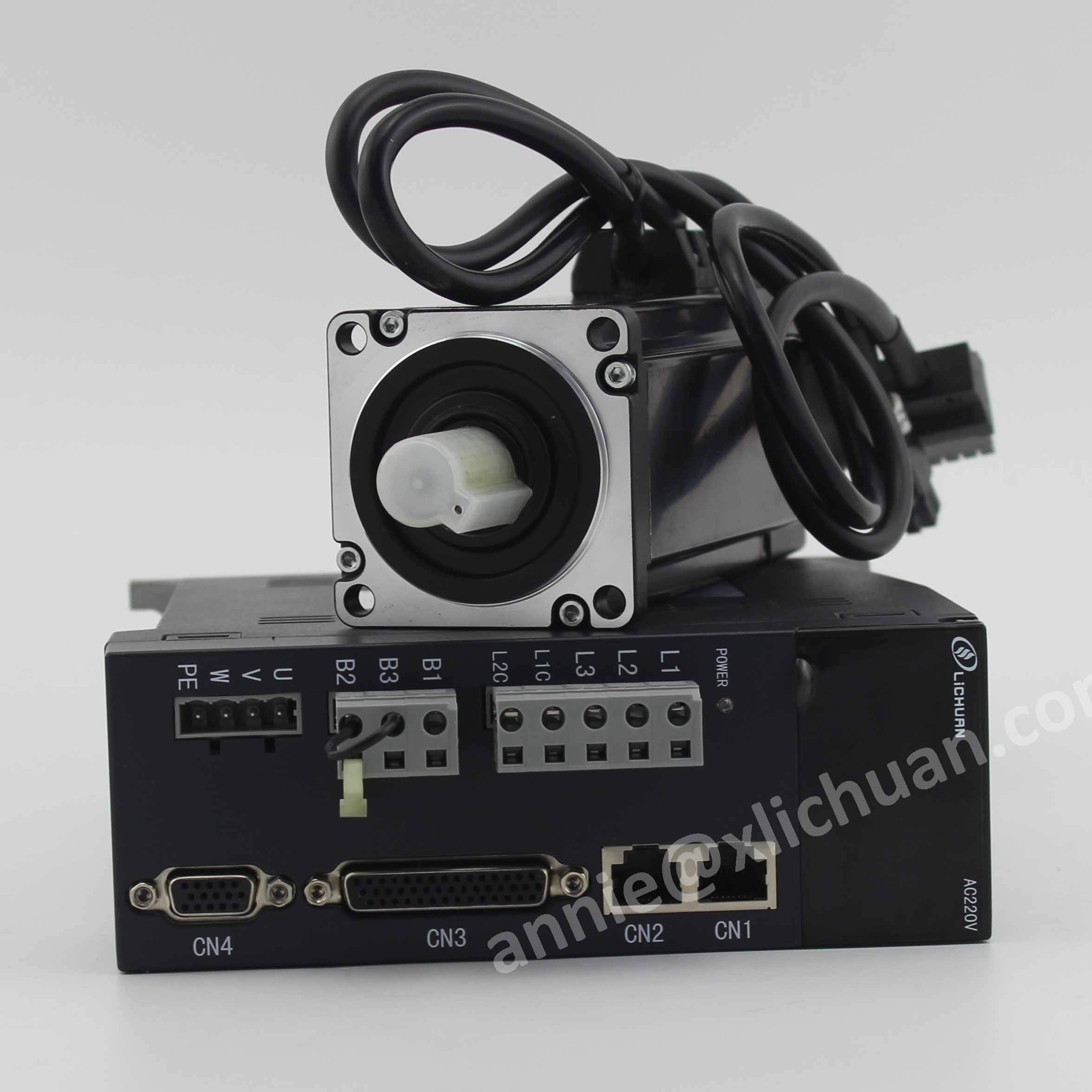 Lichuan 600w servo motor with driver set 60st-01930 cnc servo motor high speed ac motor 3000rpm servo 60 for CNC router