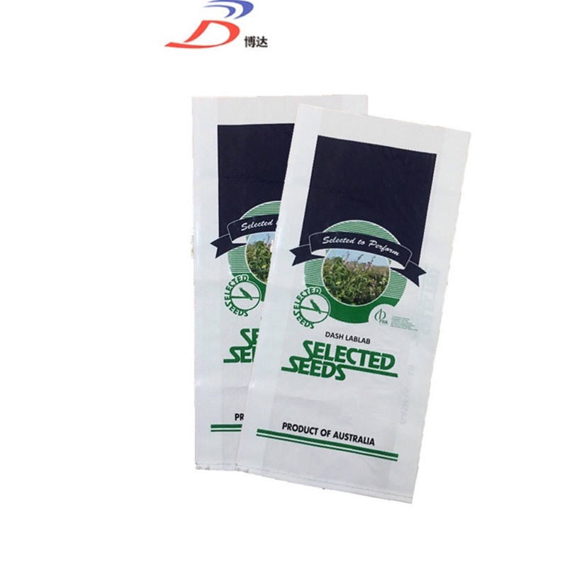 Gravure Printing Surface Handling and Sealing&Handle 25kg grass seed coated woven polypropylene bag