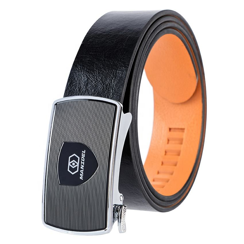 Brand Adjustable Ratchet Belt Luxury Fashion Custom Designer Men Leather Belts for men