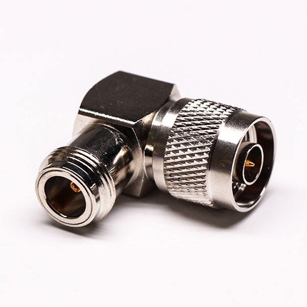 Right Angled N Type Male to Female Coaxial Adapter