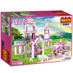 COGO 510PCS princess Castle model plastic educational building Blocks legoed bricks Set for kids Toy