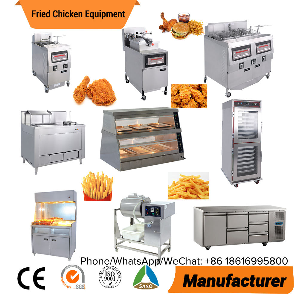 Used KFC fast food restaurant kitchen equipment French Fries machine Henny Penny Pressure Fryer Broasted Fried Chicken Equipment