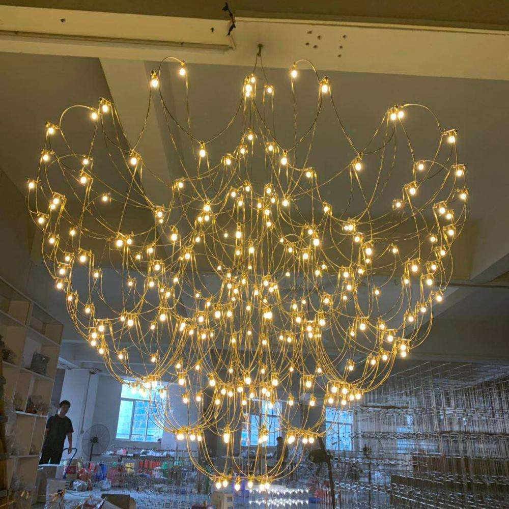 ECOJAS New products custom indoor decoration luxury lobby hotel modern project chandelier