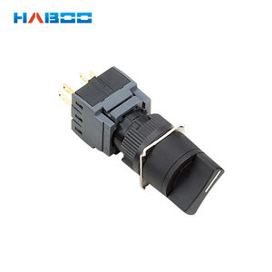 HABOO dia.16mm 2 ตำแหน่ง selector switch 1NO + 1NC pcb ประเภท rotary selector switch 5A 250V