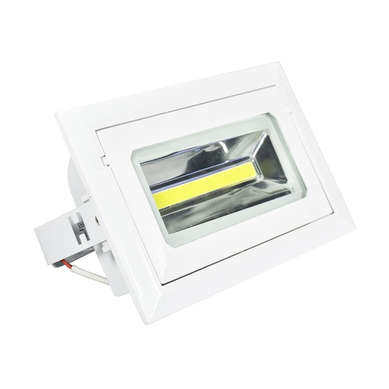 Commercial Lighting SMD 20W 30W 40W 50W 60W Dimmable Rectangular Recessed Downlight