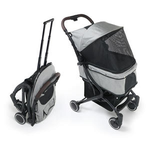 Zwei pet design doppel decker twin haustier kinderwagen