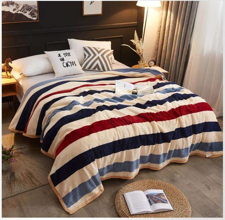 warm winter sheets coral fleece air conditioner flannel blanket