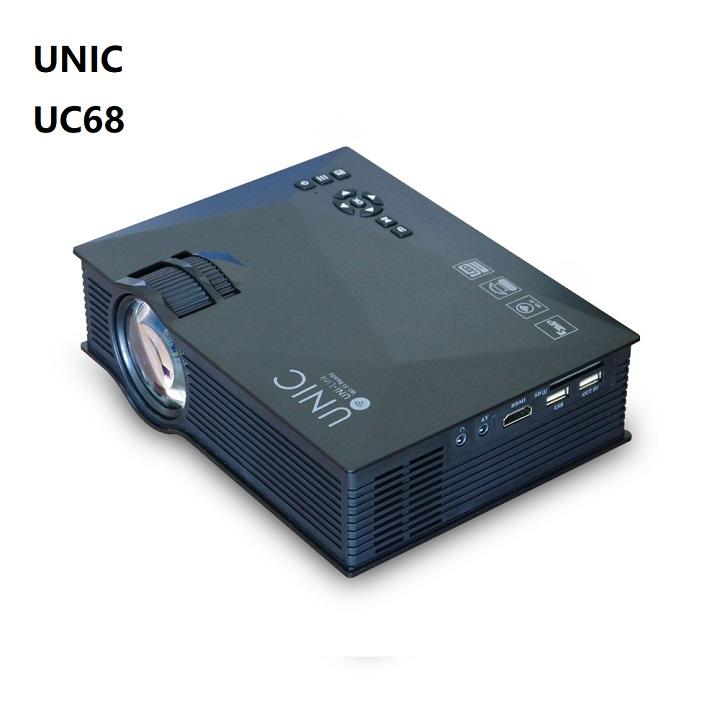 UNIC high lumens low cost hd projector logo projector home cinema LCD LED projector UC68