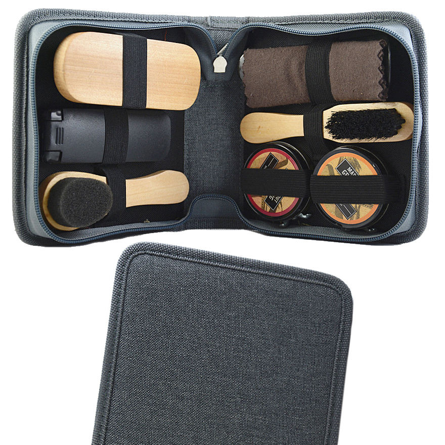 Leather Storage Case Instant Polisher Gift Cleaning Professional Shoe Polish Set