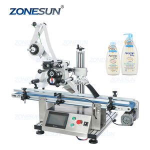 ZONESUN ZS-TB150P Flat Plastic Bag Sticker Automatic Sticker Labeling Coding Machines Labeler Price